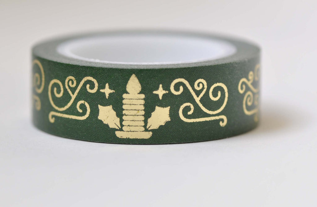 Metallic Gold Christmas Washi Tape 15mm x 10M Roll A12190