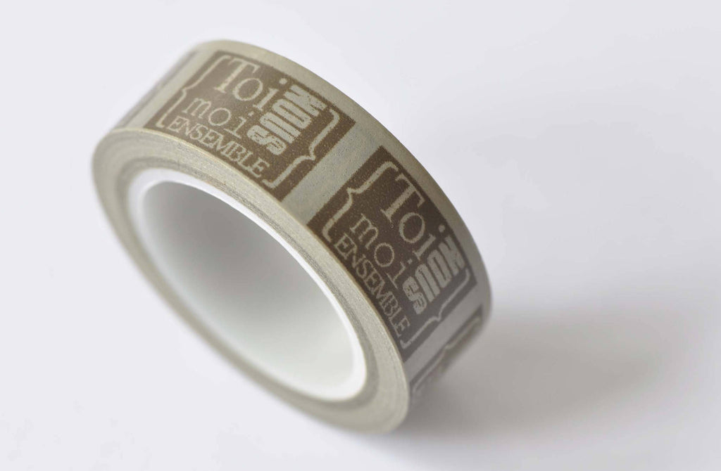 Brown Label Tag Washi Tape 15mm Wide x 10M Roll A12472