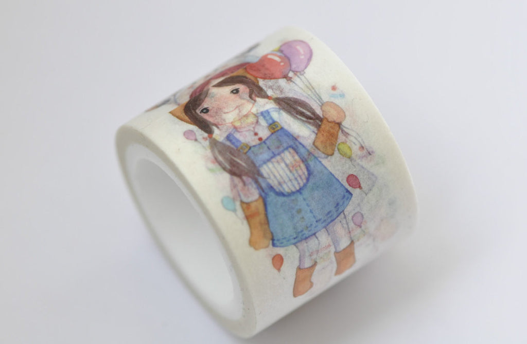 Lovely Girl Washi Tape 30mm x 5M Roll (1.2 inch x5.5 yards) A12236