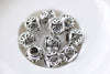 10 pcs Chinese Coin Beads Antique Silver Large Hole Spacer Beads A8800