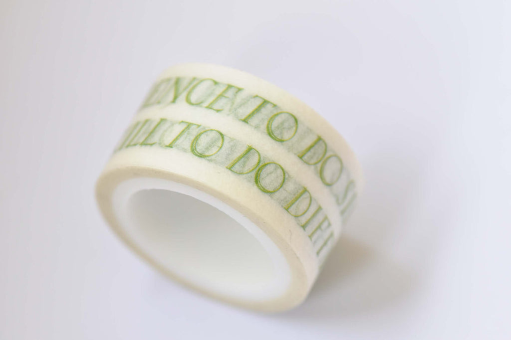 1 Roll Inspirational Quotes Washi Tape 20mm Wide x 5M Long A12268