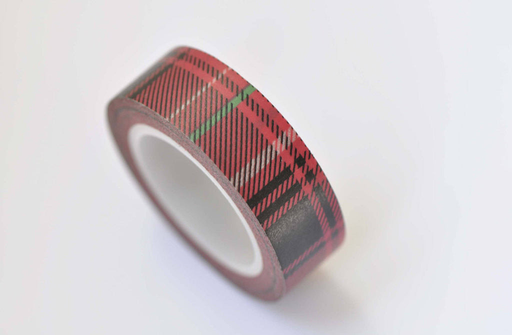 Black Twill Pattern Stripe Washi Tape 15mm x 10M Roll A12337