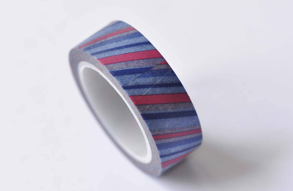 Colorful Stripes Washi Tape 15mm Wide x 10m Roll A12536