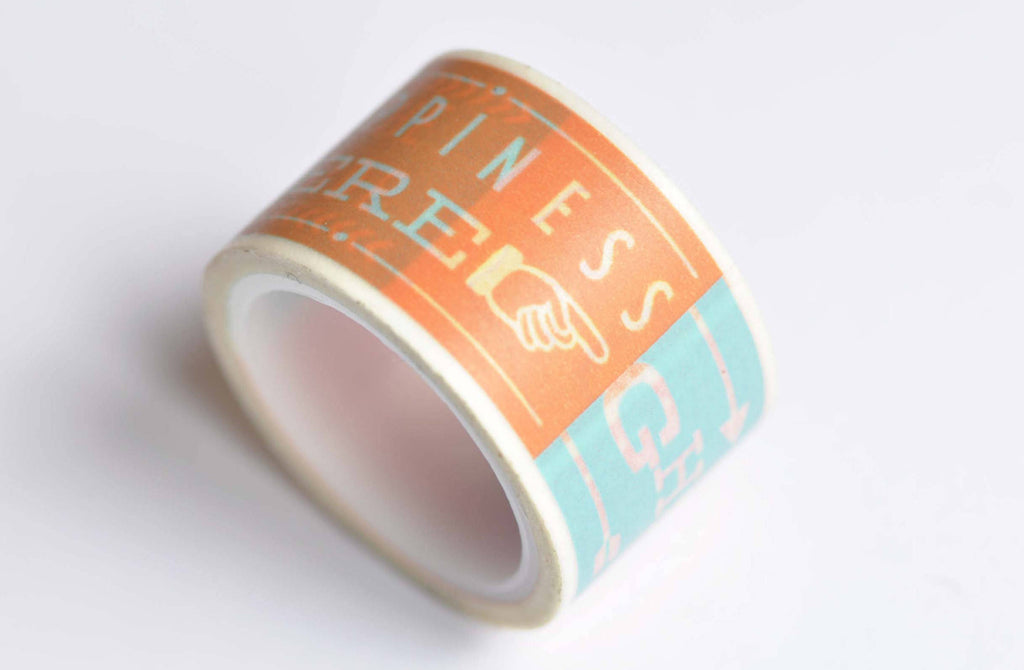 Colorful Quote Happiness Friend Washi Tape 25mm x 5M Roll A12561