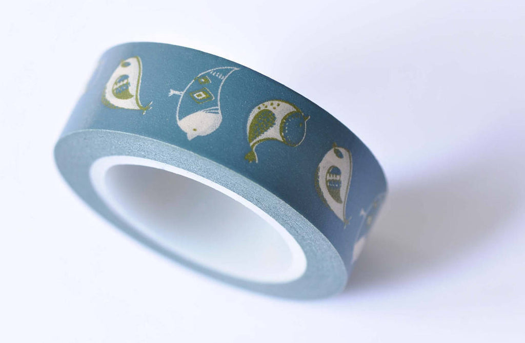 Blue Bird Adhesive Washi Tape 15mm x 10M Roll A12421