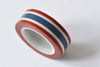 Blue White Red Stripes French Flag Color Washi Tape A12450