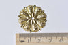 10 pcs Raw Brass Round Flower Stamping Embellishments 27.5mm A8965