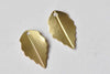 30 pcs Raw Brass Leaf Charms Stamping Embellishments 10x17mm A8973