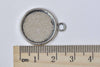 10 pcs Antique Silver Round Base Tray Match 18mm Cabochon A8986