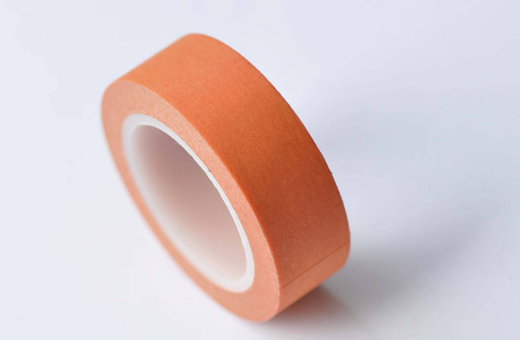 Blank Orange Japanese Masking Washi Tape 15mm x 10M Roll A12698