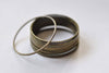 Large Brass Seamless Rings Antique Bronze Finish 25mm  Set of 20 A8863