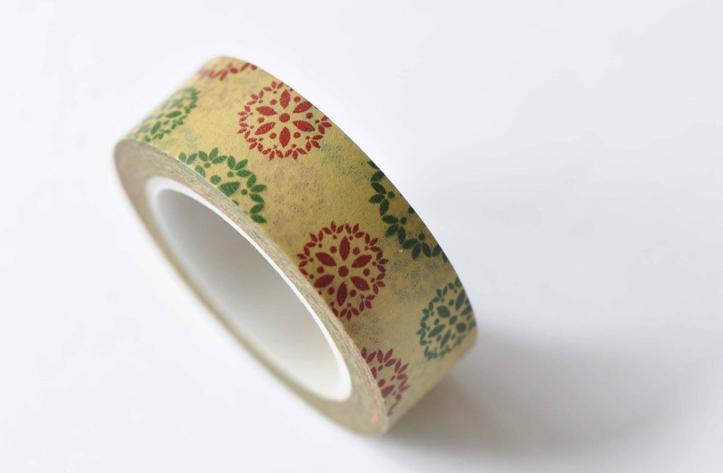 Flower Adhesive Planner Washi Tape 15mm Wide x 10M Roll A12486