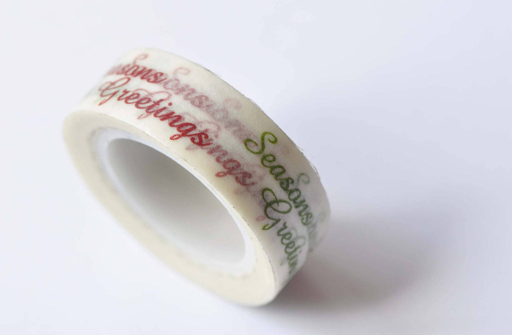Seasons Greetings Washi Tape 15mm Wide x 10m Roll A12582