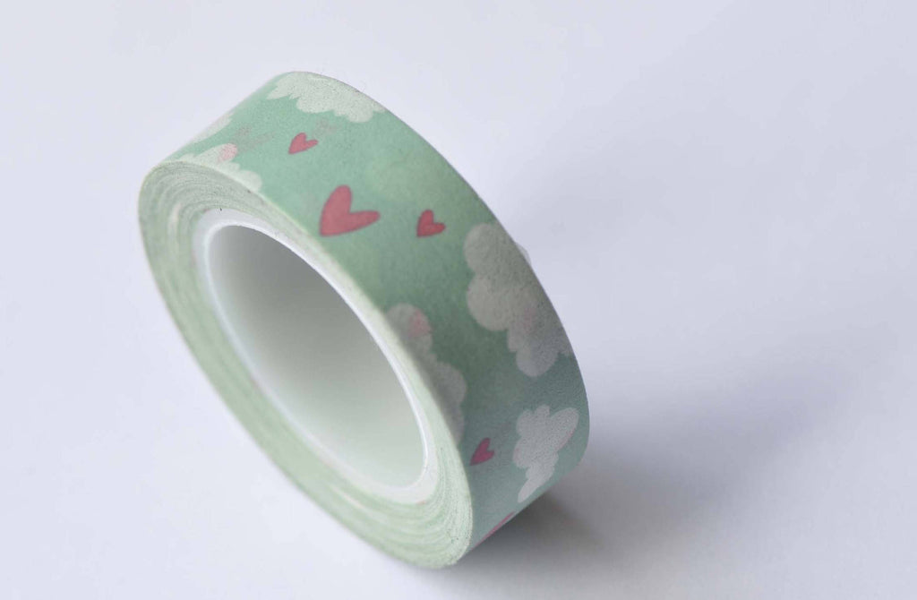 Sky Cloud Heart Masking Washi Tape 15mm x 10M A12659