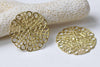 10 pcs Raw Brass Filigree Flower Stamping Embellishments 25mm A8966