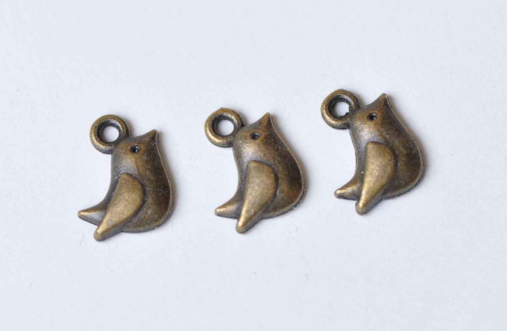 20 pcs Antique Bronze Lovely Bird Charms 8x11mm A9046