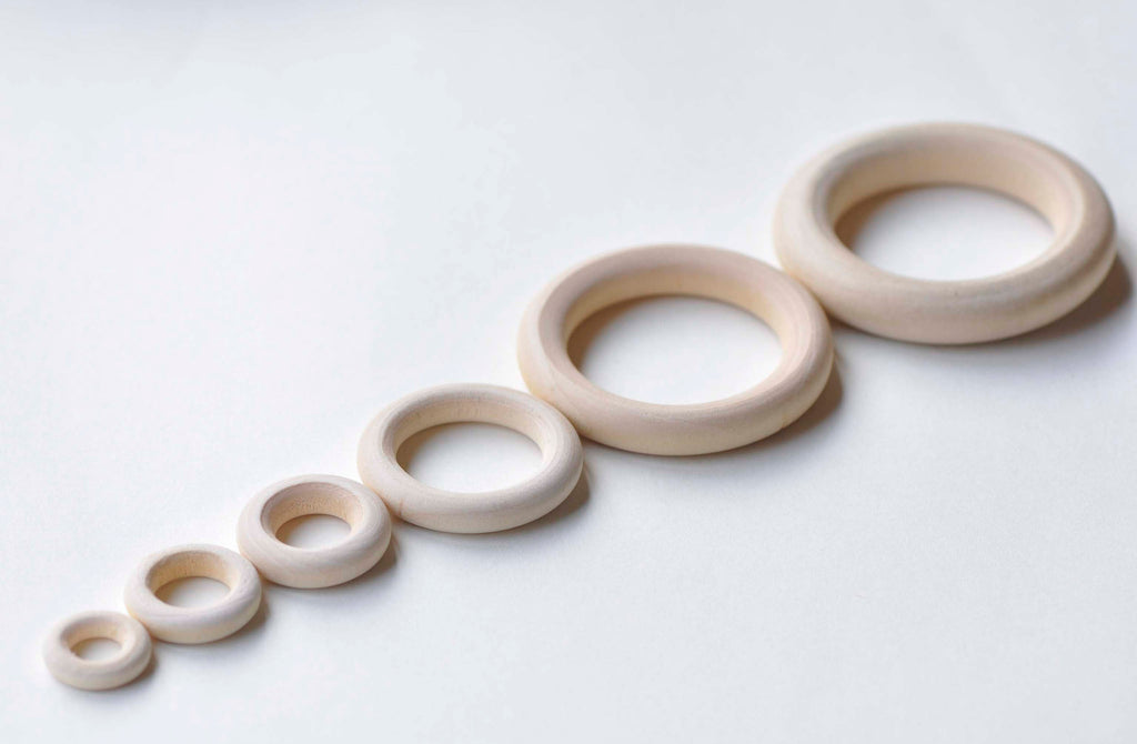 Round Unfinished Natural Wood Ring Circle 15mm-125mm