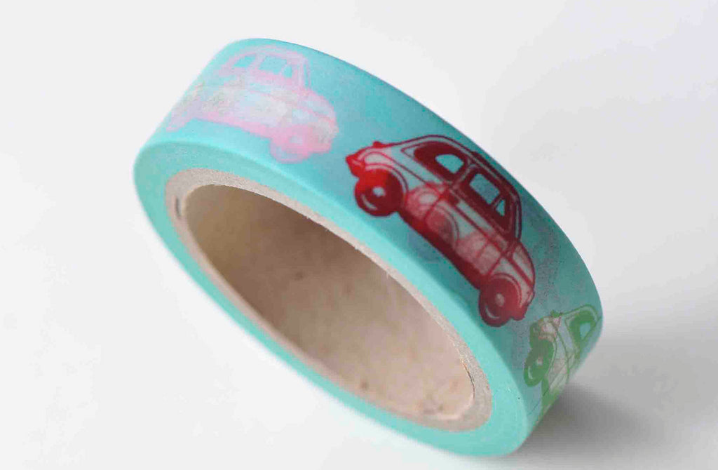 Lovely Car Self-Adhesive Washi Tape 15mm Wide x 10M Roll A12919