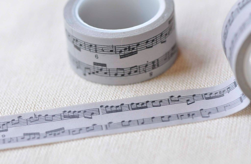 Music Note Washi Tape Musical Planner Tape 20mm x 5M A13004