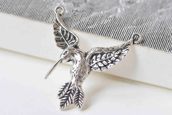 10 pcs Flying Eagle Connector Antique Silver Charms 30x36mm A1214