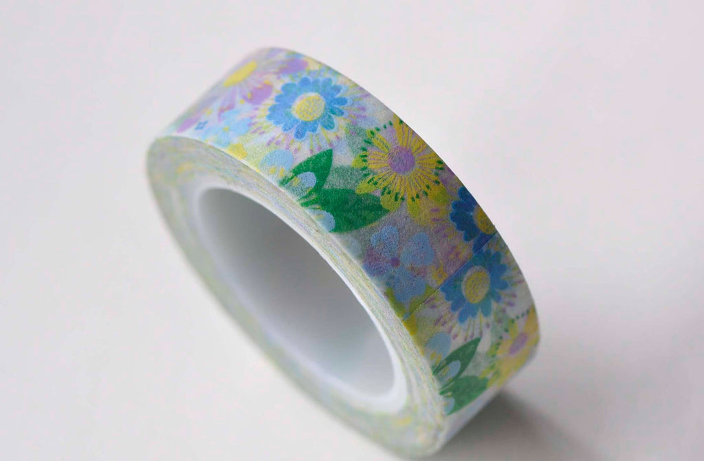 Colorful Flower Cute Adhesive Washi Tape 15mm Wide x 5M Roll A13122