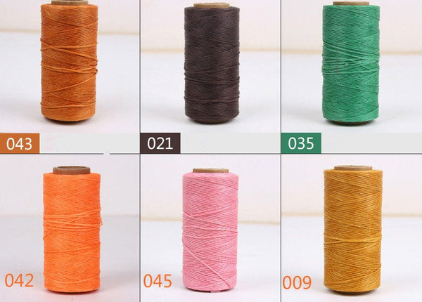 210D (1mm) Flat Wax Cord Polyester Thread For Leather Craft 200 meters