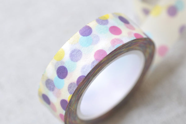Colorful Dotted Spot Washi Tape 15mm x 10M Roll A13269