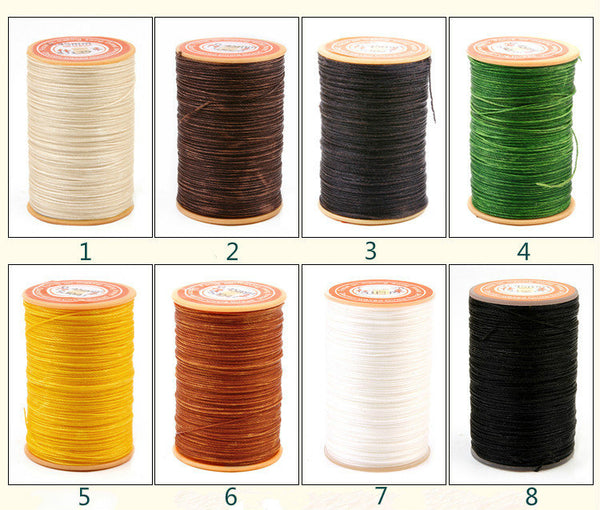 0.65mm Wax Cord Polyester Thread For Leather Craft 60 meters/65 yards