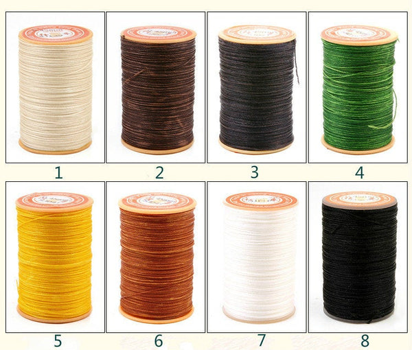 0.45mm Round Wax Polyester Thread Cord Leather Craft 65 yards