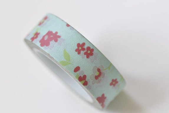Cute Flower Adhesive Planner Washi Tape 15mm Wide x 10M Roll A13301
