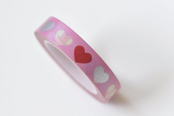 Red Love Heart Masking Washi Tape 10mm x 10M A13308