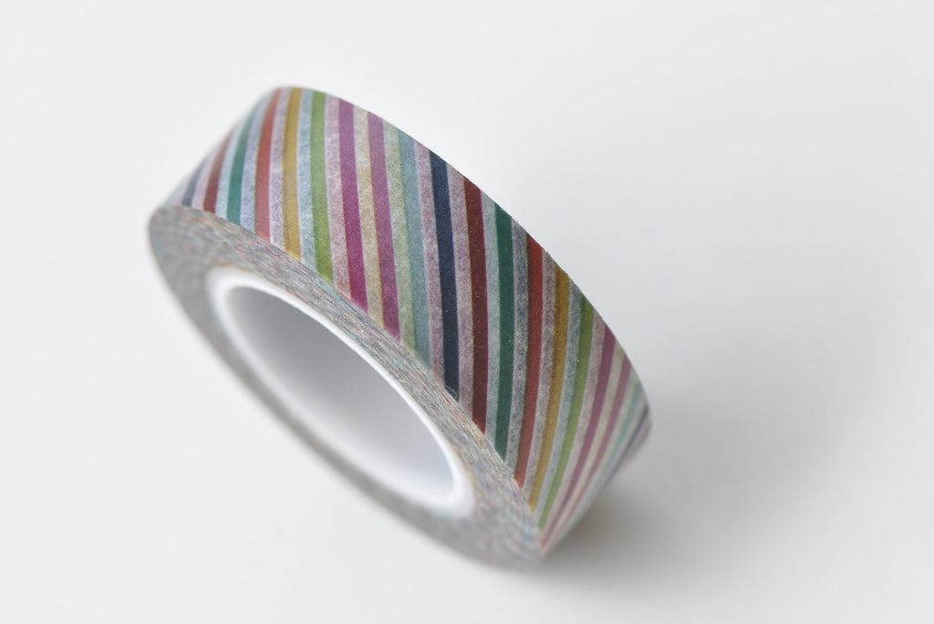 Colourful Stripes Deco Washi Tape 15mm Wide x 10M Roll A13311