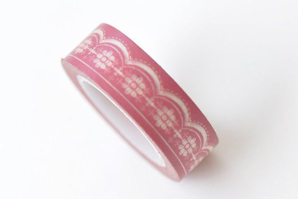 Pink Daisy Flower Washi Tape Scrapbook Supply 15mm x 10M Roll A13331