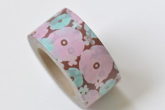Cute Pink Flower Washi Tape 20mm x 5m A13289