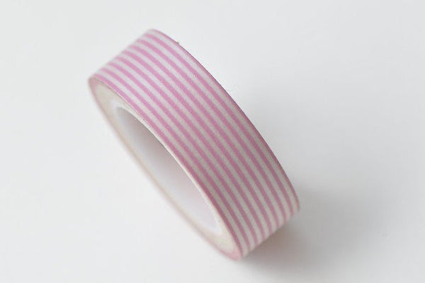 Pink Stripes Deco Washi Tape 15mm Wide x 10M Roll A13318