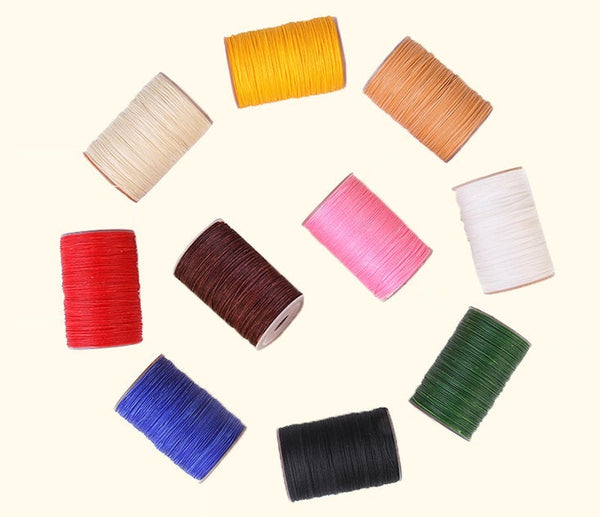 0.6mm Round Wax Cord Polyester Thread Hand Sewing Essential 60 meters