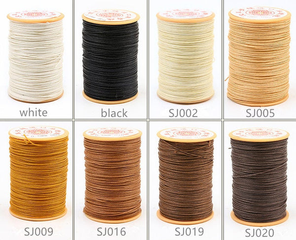 0.6mm Round Wax Cord Polyester Thread Hand Sewing Essential 80 meters