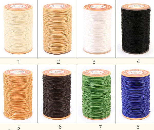 0.5mm Round Wax Polyester Thread Cord For Leather Craft 60 meters