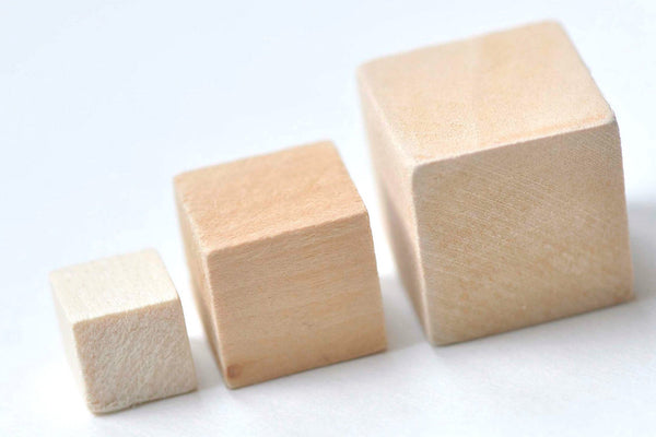 Unfinished Natural Wood Cubes Findings (No Hole)  10mm/15mm/20mm