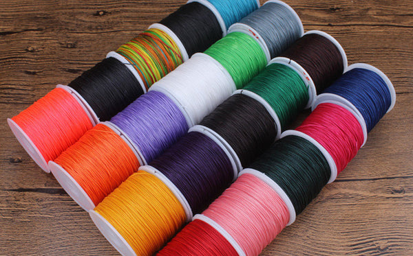 0.5mm Round Wax Cord Polyester Thread 100 Meters Roll