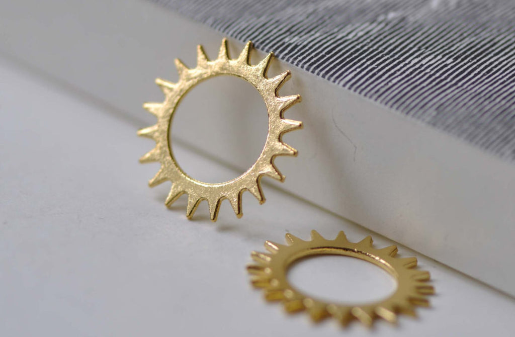 20 pcs Gold Gear Connectors Mechanical Watch Movement Charms A7917