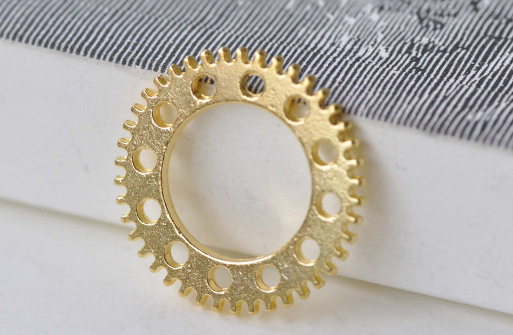 Gold Steampunk Gears Watch Movement Charms Set of 20 A7919