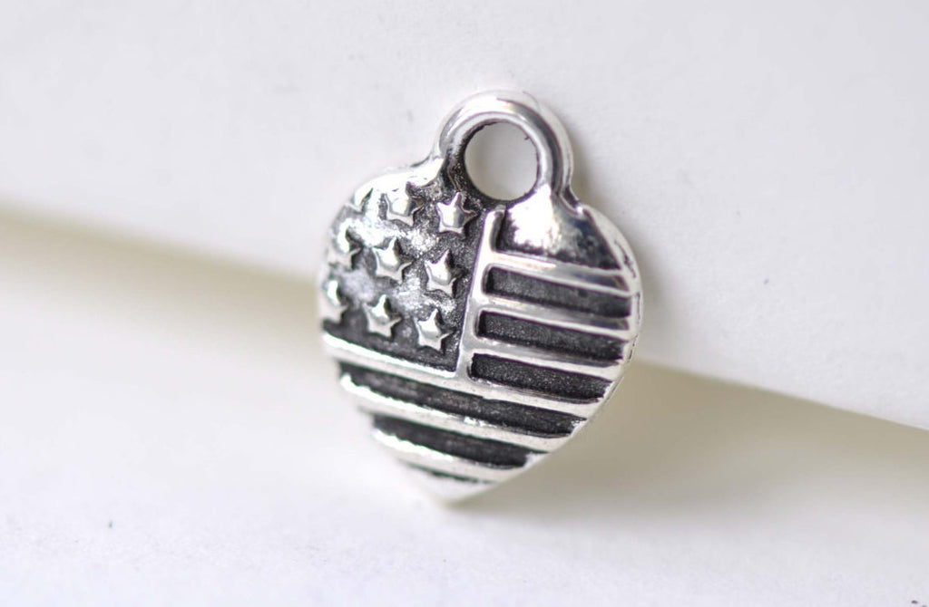 20 pcs Antique Silver Small Heart Charms 10x12mm A8057