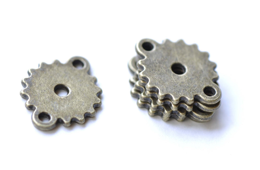 20 pcs Small Gear Connectors Antique Bronze Watch Movement A8169