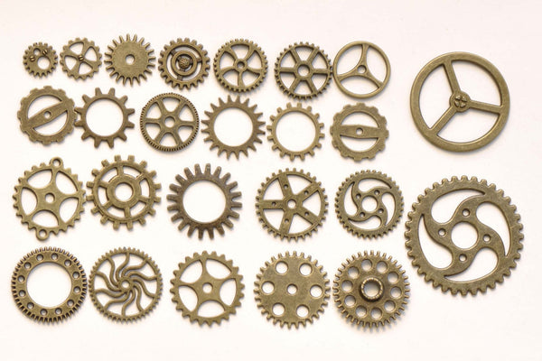 Bulk Gear Watch Movement Antique Bronze Charms Mixed Style A8267