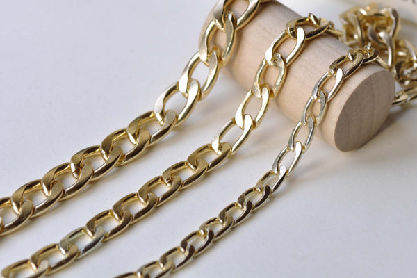 KC Rose Gold Aluminum Curb Chain Flat Unsoldered Links