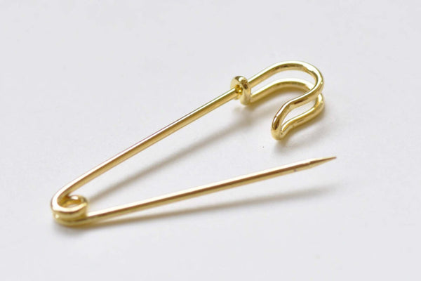 Plain Gold Safety Pins Kilt Pins Broochs 11x50mm Set of 10 A8523