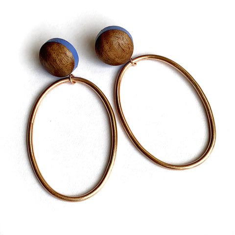 Catcher post earrings - Oval