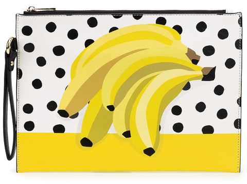Banana Placement Print Clutch Bag