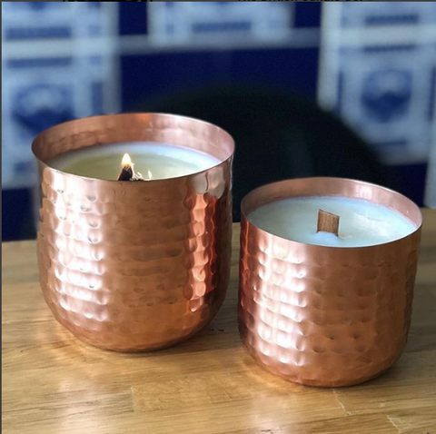 Luxury Large Copper Scented Soy Candle